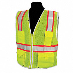 High Visibility Vest,Class 2,XL,Lime