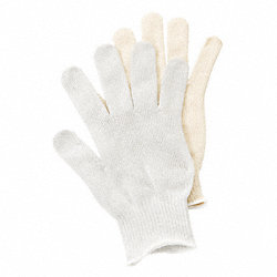 Cut Resistant Glove,White,Reversible,M