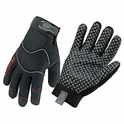 Mechanics Gloves,Black,M,PR