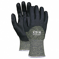 Cut Resistant Gloves,PVC,L,PR