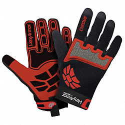 Cut Resistant Gloves,Red/Black,L,PR