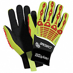 Cut Resistant Gloves,Yellow/Red,L,PR