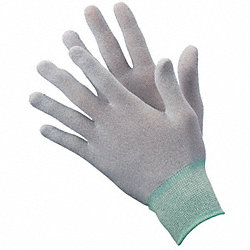 Antistatic Gloves,M,Nylon/Carbon,PK12