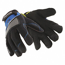 Cut Resistant Gloves,Blue/Black,L,PR