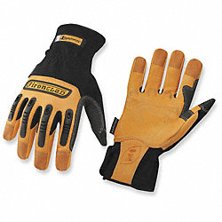 Mechanics Gloves,Tan/Black,XL,PR