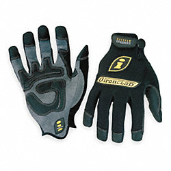 Mechanics Gloves,L,Black,PR
