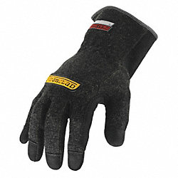 Heat Resist Gloves,Black, L,Kevlar,PR
