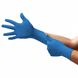 Disposable Gloves,Nitrile,L,Blue,PK100