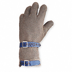 Cut Resistant Glove,Silver,Reversible,XL