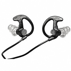 Full Block Ear Plugs,Blk/Blk,26dB,M,PR