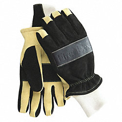 Firefighting Gloves,Black/Tan,XS,PR