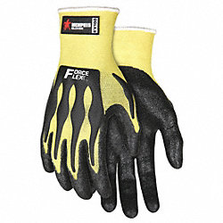 Cut Resistant Glove,L,Yellow/Black,Pr