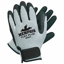 Coated Gloves,Black/Gray,L,PR