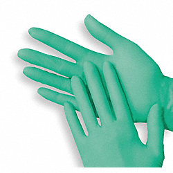 Disposable Gloves,Vinyl/Aloe,L,Grn,PK100