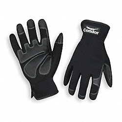 Mechanics Gloves,Full Finger,Black,L,PR