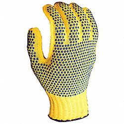 Glove,Med Weight,Size XL,Ylw/Blue Dot,PR