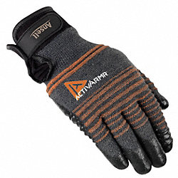 Cut Resistant Gloves,Black/Gray,L,Pr