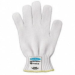 Cut Resistant Glove,White,Reversible,7