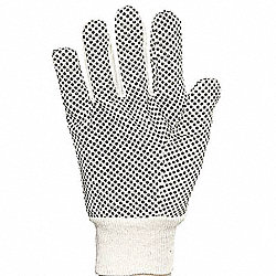 Canvas Gloves,Cotton, M,Natural,PK12