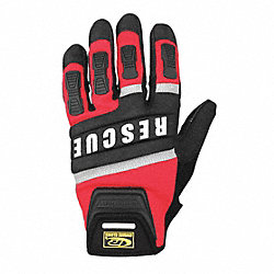 Extrication Gloves,Rescue,Red,XL,Pr