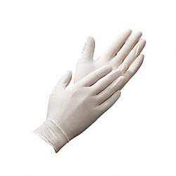 Disposable Gloves,Latex,L,White,PK100