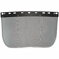 Faceshield Visor, Steel Mesh, Blk, 8x15-1/2