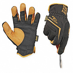 Mechanics Gloves,Tan/Black,L,PR