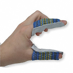 Finger Guard,Split Leather,S,PK10