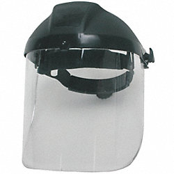 Ratchet Faceshield Asmbly, Blk, 8x16-1/2in