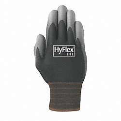 Coated Gloves,L,Black/Gray,PR