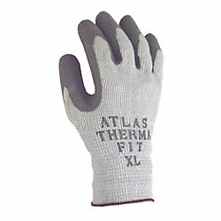 Coated Gloves,Knit Wrist,L,Gray,PR