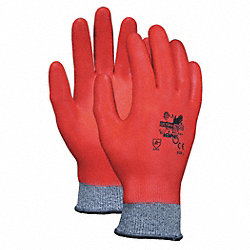 Cut Resistant Gloves,Gray/Red,L,PR
