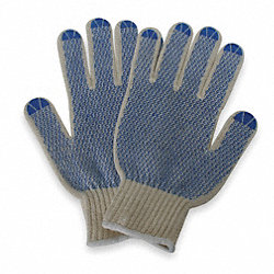 Knit Glove,Poly/Cotton,Men's L,PR