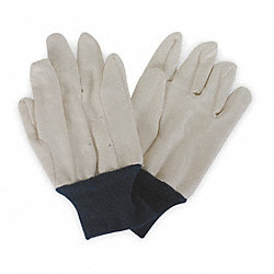 Jersey Gloves,Cotton, XL,White/Blue,PR