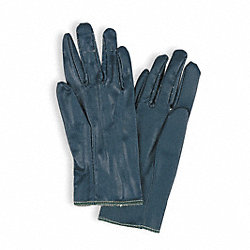 Canvas Gloves,Nitrile, 8,Blue,PR