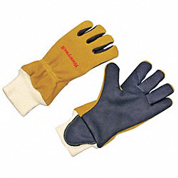 Firefighters Gloves,L,Kangaroo,PR