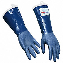 Steam Resistant Gloves,Blue, L,Rubber,PR