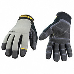 Cut Resistant Gloves,Gray/Black,L,PR